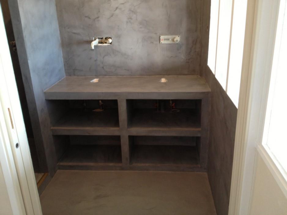 B ton d coratif salle de bains b ton cir d coratif paris - Beton cire salle de bains ...